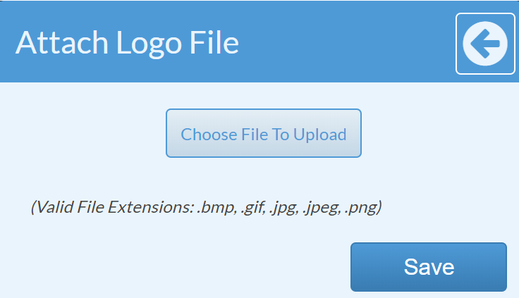 Choose Logo file to upload