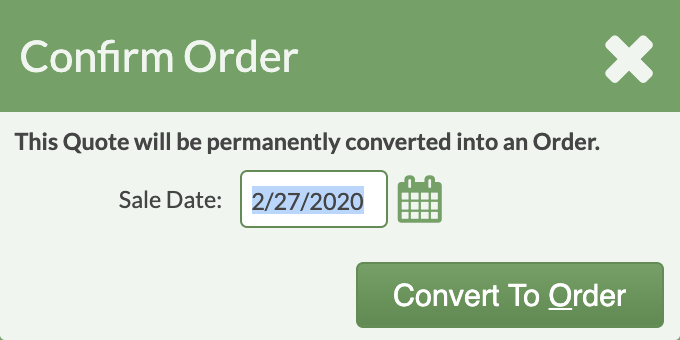 confirm order date