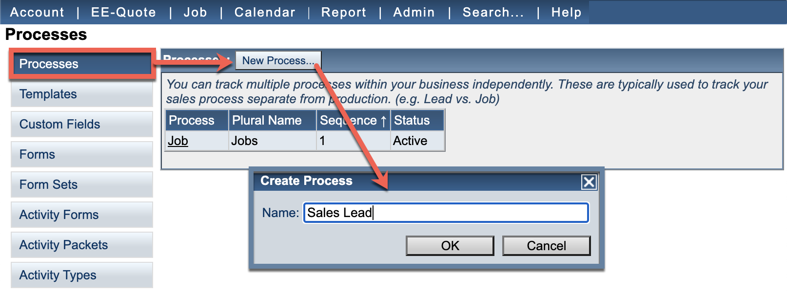 add a sales lead