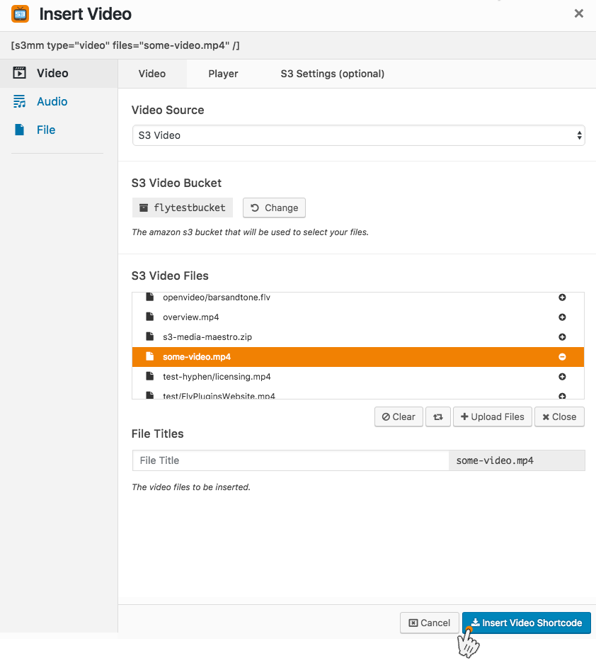 Step 6: Upload a file to Amazon S3 - S3 Media Maestro Support