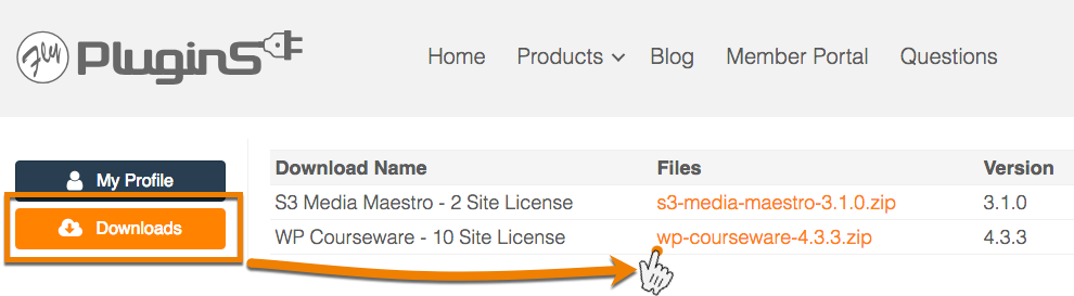 I lost my download link for WP Courseware, how can I download the