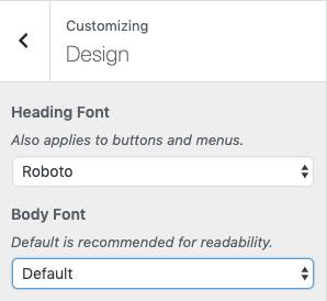 App Fonts - AppPresser Docs