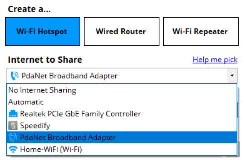 How to use PDANet with Connectify Hotspot - Connectify Hotspot