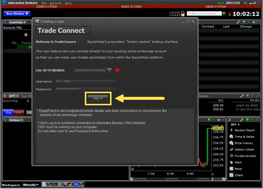 Interactive Brokers Integration - EquityFeed Support