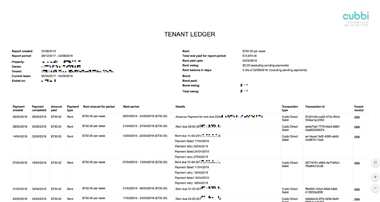 How To Download A Tenant Ledger Cubbi