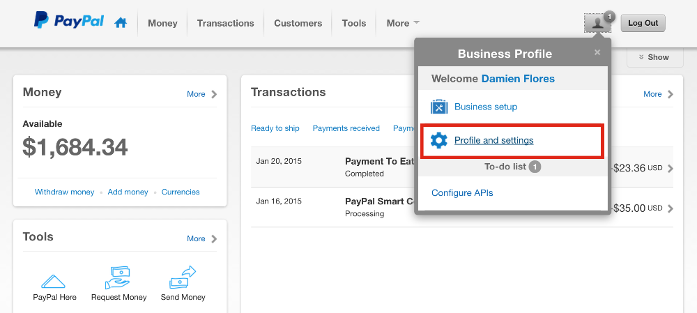 How do I accept payments with PayPal Express without