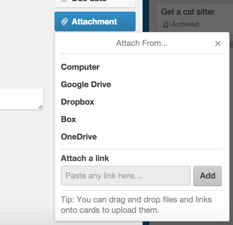 Adding attachments to cards - Trello Help