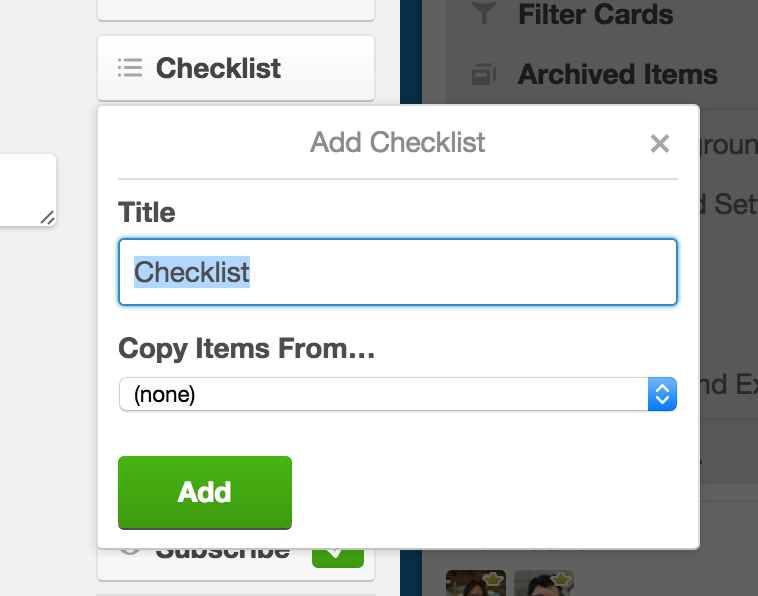 Adding checklists to cards - Trello Help