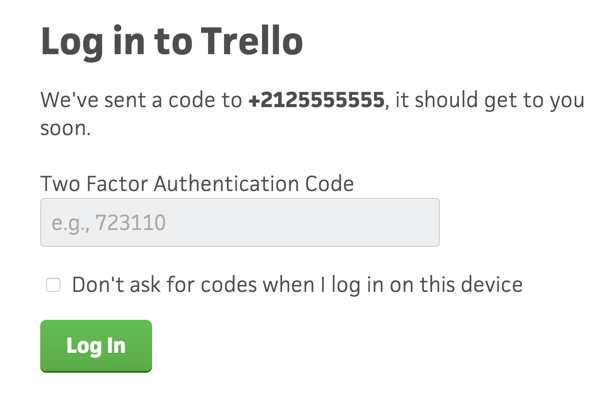 Enabling Two Factor Authentication for your Trello account