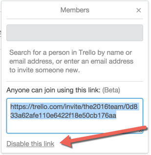 inviting people by using a shareable link trello help