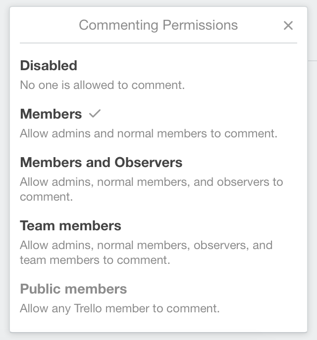 Changing permissions on a board - Trello Help