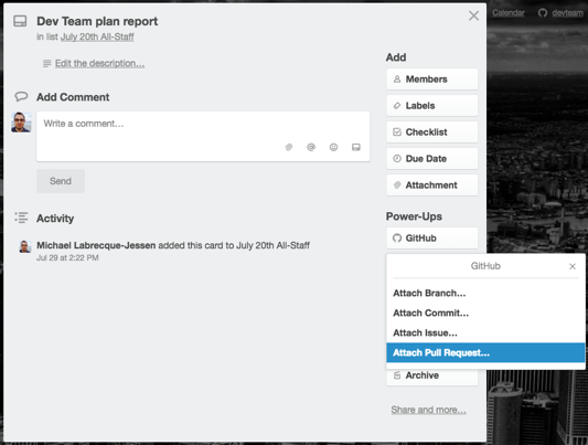 Using the GitHub Power-Up - Trello Help