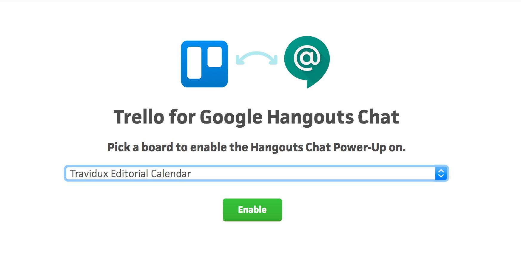 Trello for Google Hangouts Chat - Trello Help