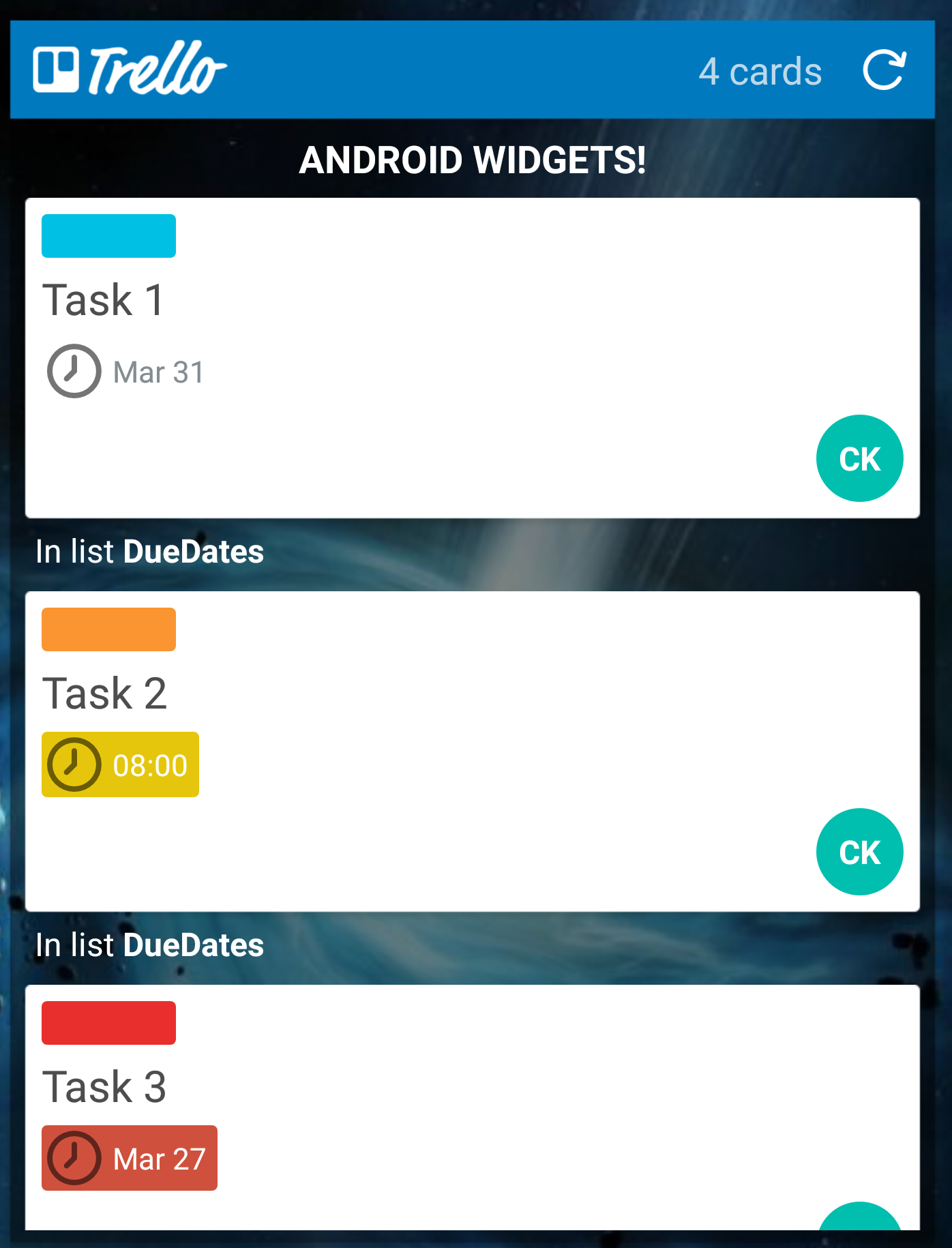 Calendario Android Widget.Trello For Android Widgets Trello Help