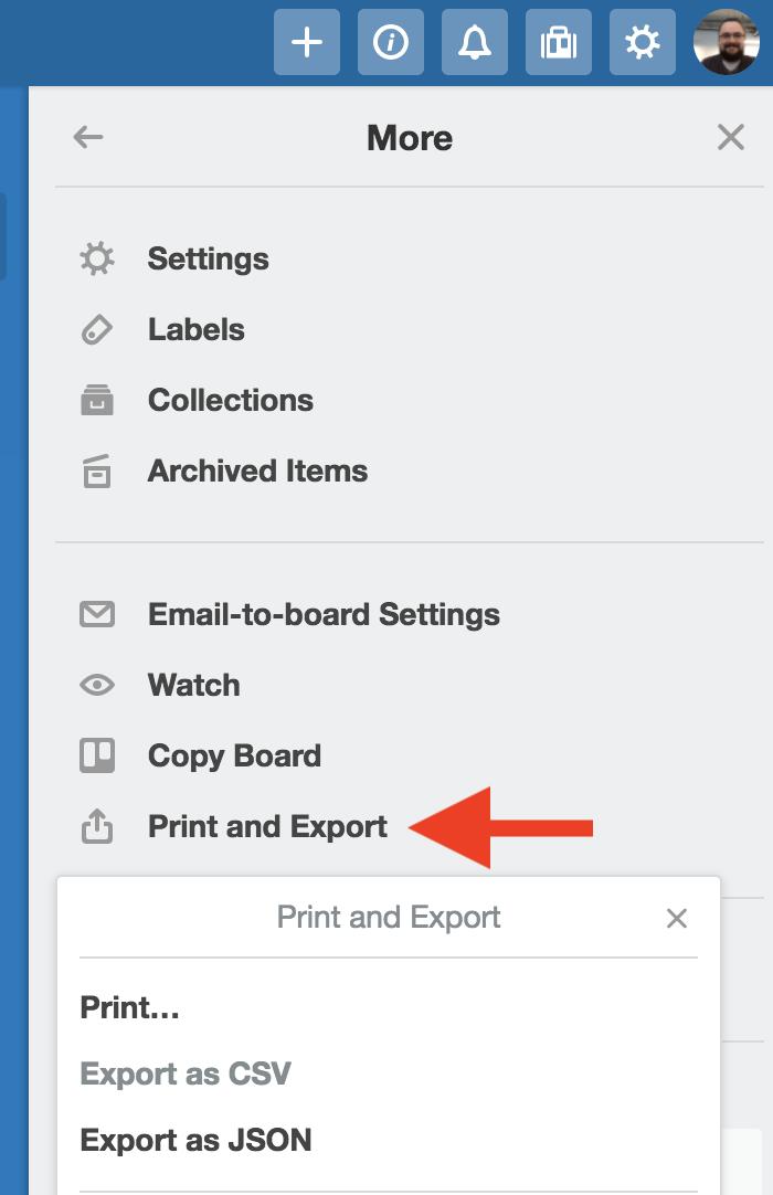 printing in trello trello help