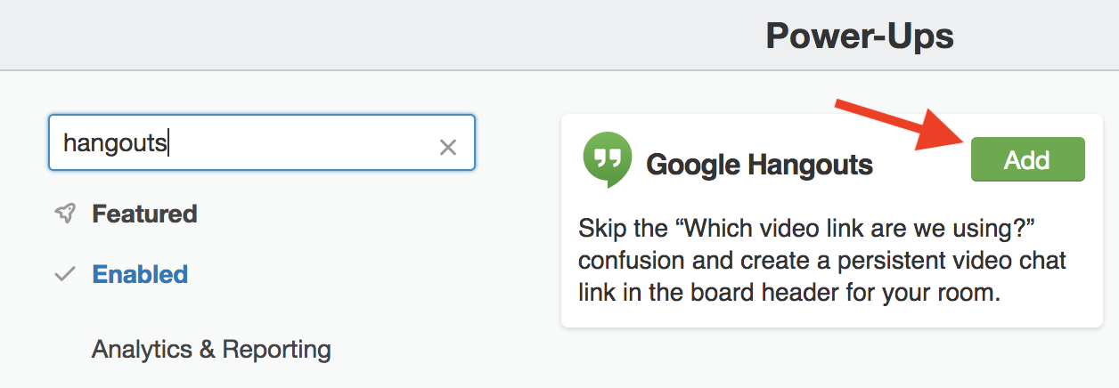 Using the Google Hangouts Power-Up - Trello Help