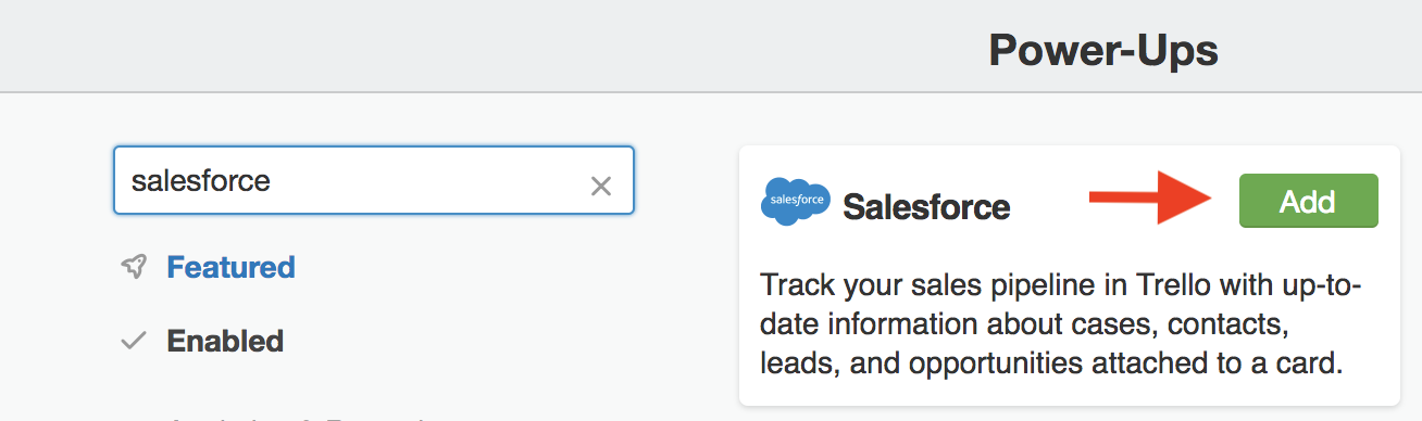Using the Salesforce Power-Up - Trello Help