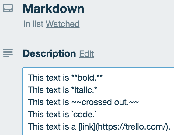 How To Format Your Text in Trello - Trello Help