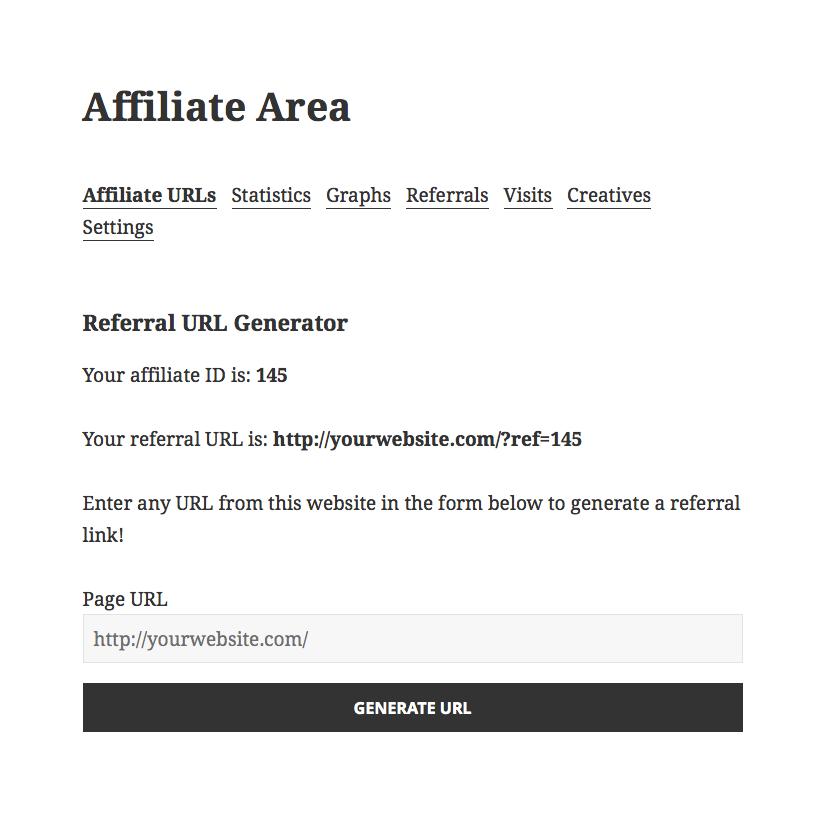 Creating the Affiliate Area - AffiliateWP
