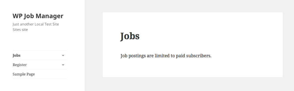 the jobs listing page will now be limited to active subscribers users that do not have an active subscription will see a message like this