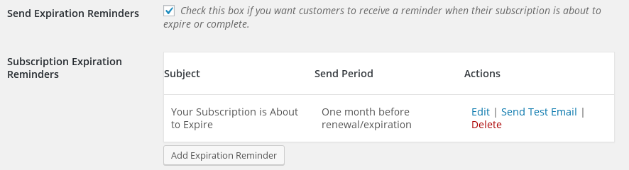 Recurring payments subscription emails easy digital downloads expiration reminders work exactly like renewal reminders but are intended to alert the customer that their subscription has expired altavistaventures Choice Image