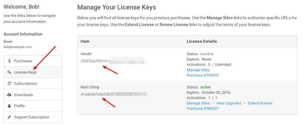 where to find your license key