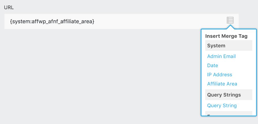 Using a Ninja Form redirect action - AffiliateWP