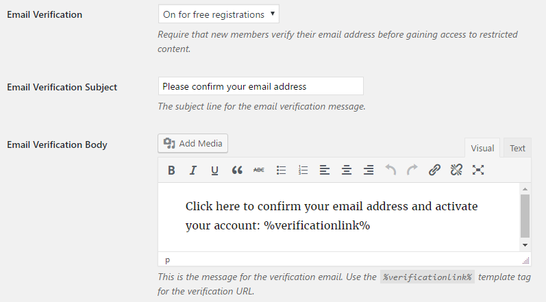 Can I Require Email Verification Before An Account Is Activated