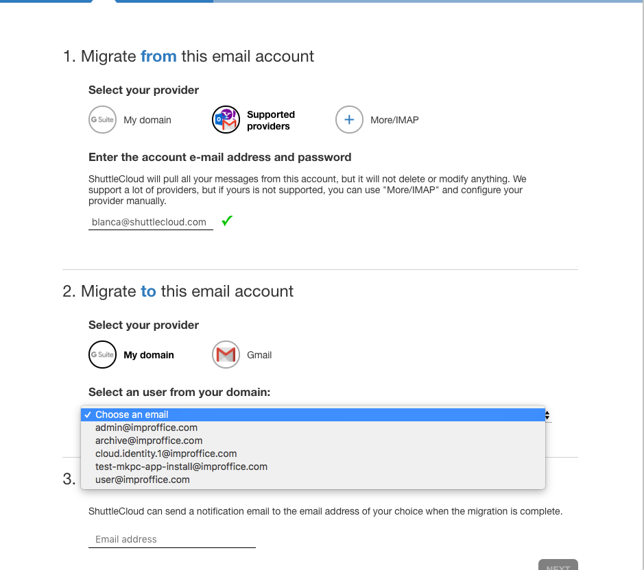 Migrating emails to another G Suite domain you own - Carbo
