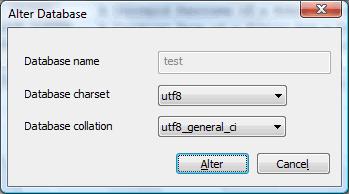 Alter Database - SQLyog Knowledge Base