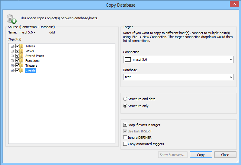 Copy Database To Different Host Db Sqlyog Knowledge Base