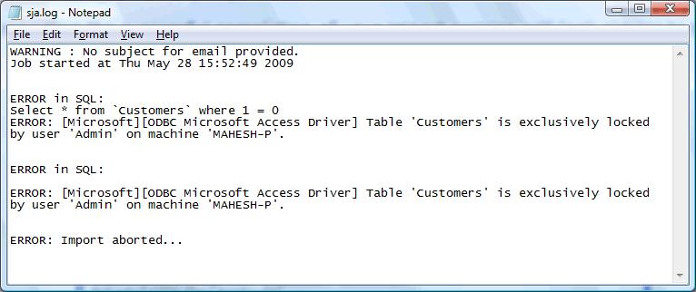 Import External Data Results Representation - SQLyog