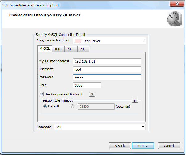 Specify Mysql Connection Details Sqlyog Knowledge Base