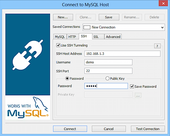 Connecting using SSH Tunneling - SQLyog Knowledge Base