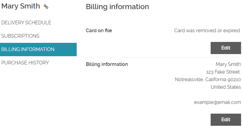 How to update billing information