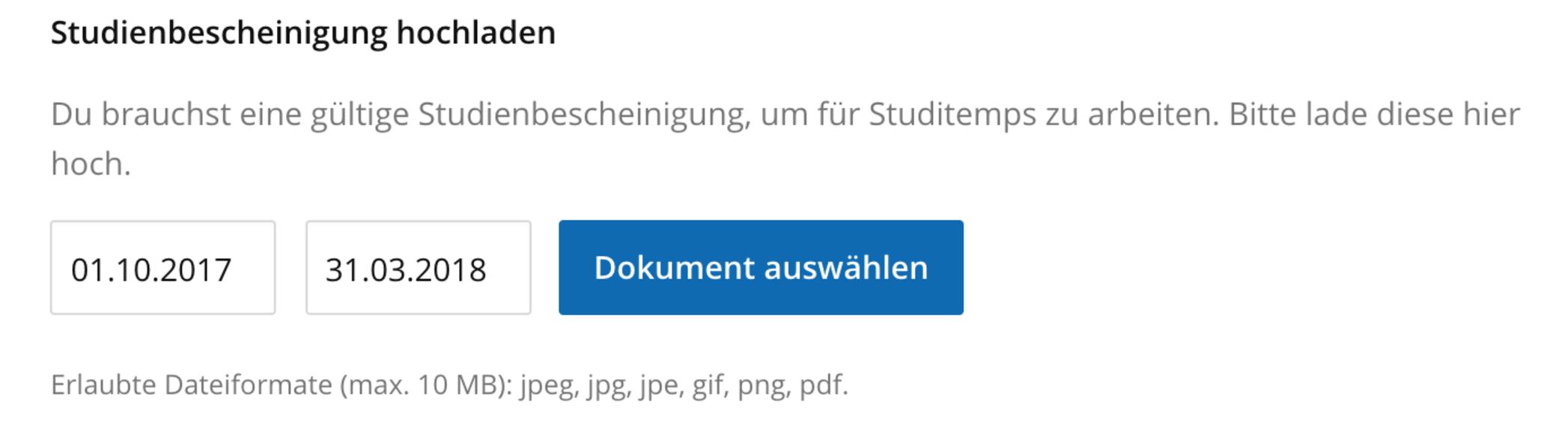 Wo kann ich meine Dokumente hochladen? - Jobmensa Studenten ...
