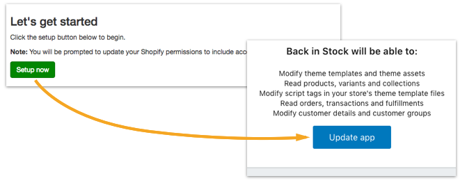 Shopify Customer Accounts integration - Back in Stock Knowledge Base