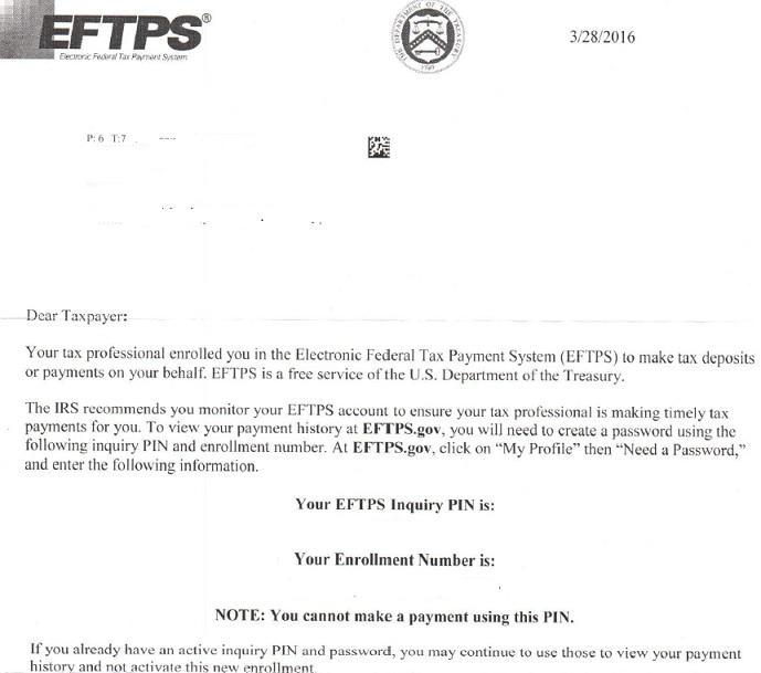 Eftps Inquiry Pin Asap Help Center