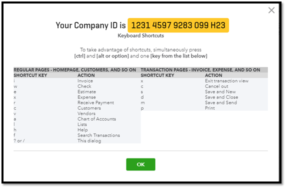 QuickBooks Online - Where Do I Find My Company ID - ASAP