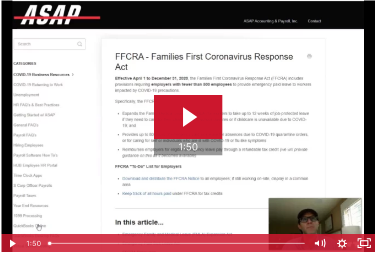 FFCRA Overview Video