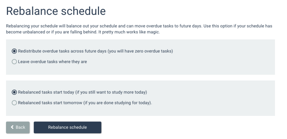 rebalancing your schedule cram fighter knowledge base