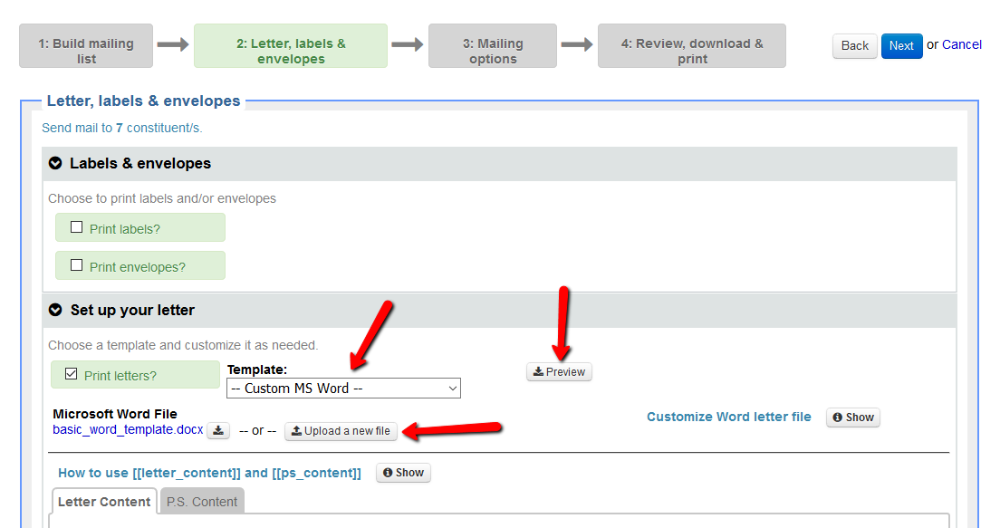 Create A Mailing Little Green Light Knowledge Base