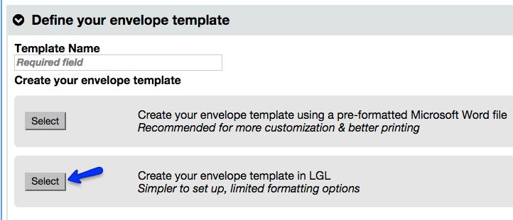 Envelope templates little green light knowledge base create your envelope in lgl maxwellsz