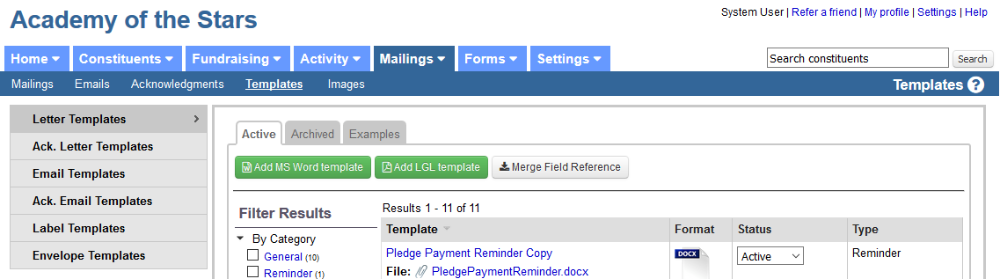 Sending Pledge Reminders Or Invoices Little Green Light Knowledge Base - Invoice reminder email template