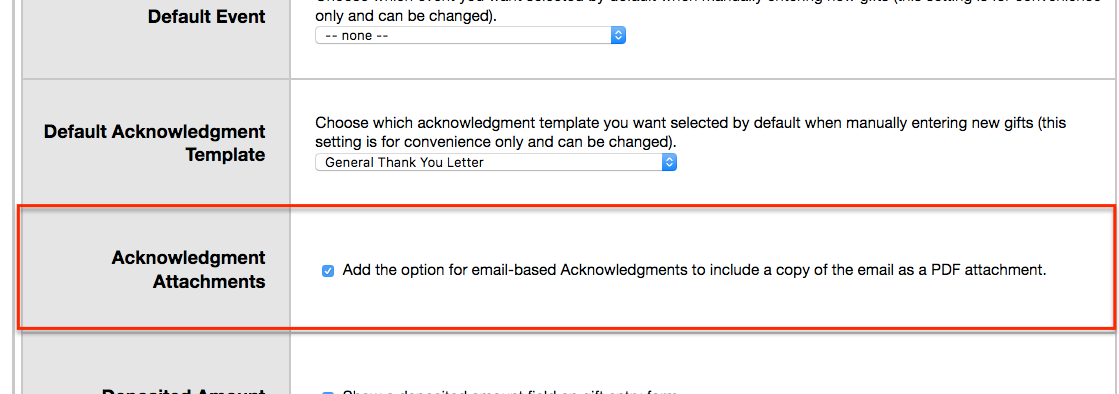Send email acknowledgments - Little Green Light Knowledge Base