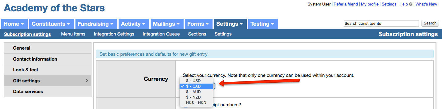 Selecting Your Preferred Currency Little Green Light Knowledge Base