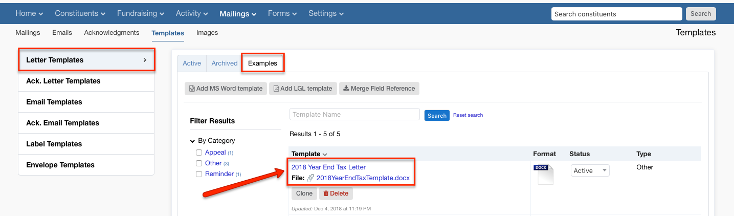 Generate and send year-end tax statements/receipts - Little Green