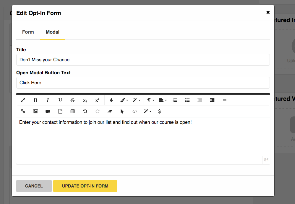 Creating an Opt-In Form To Build to Your Email List - Zippy