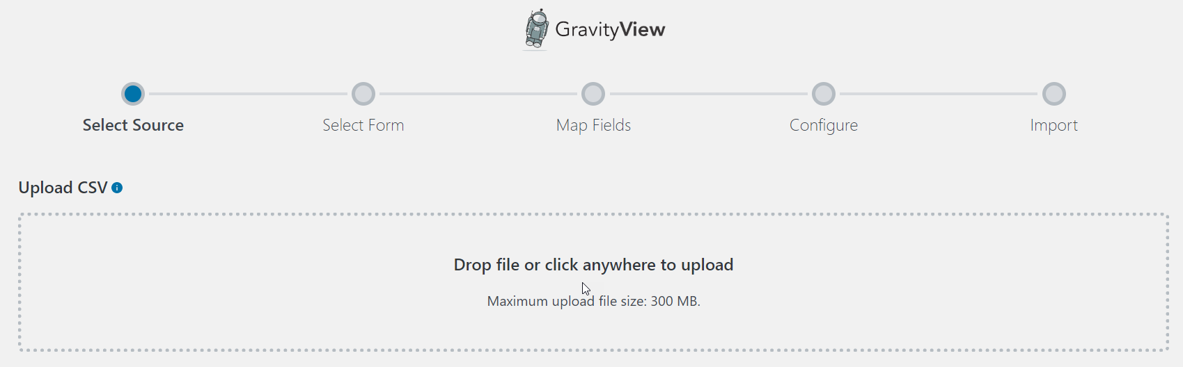 Uploading a CSV file to import Gravity Forms entries
