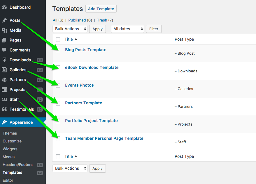 Templates For Blog Posts And Custom Post Types Live Composer - Blog post schedule template